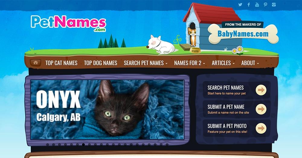 PetNames.com Screen Shot